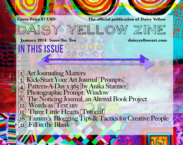 Cover of the Daisy Yellow Zine Issue 10